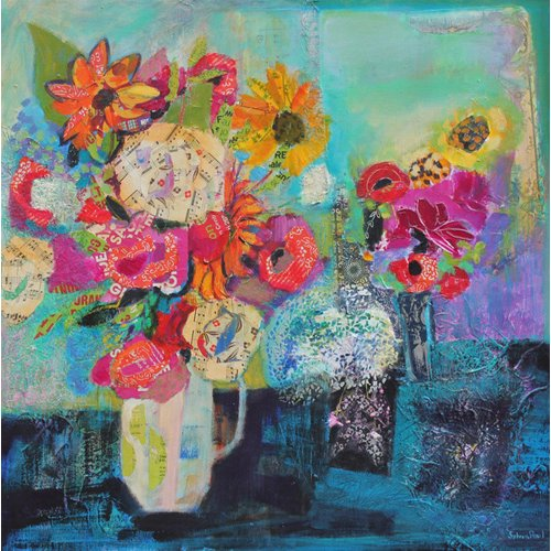 Tableau - Bring me Sunshine 2013 acrylic.paper collage-