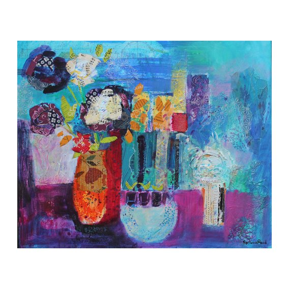 Tableau - Blue Beyond 2013 acrylic.paper collage-