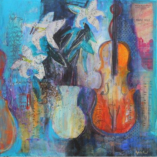 Tableau - Trio 2014 acrylic.paper collage -