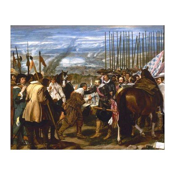pinturas do retrato - Quadro -Rendición de Breda (Las lanzas)-
