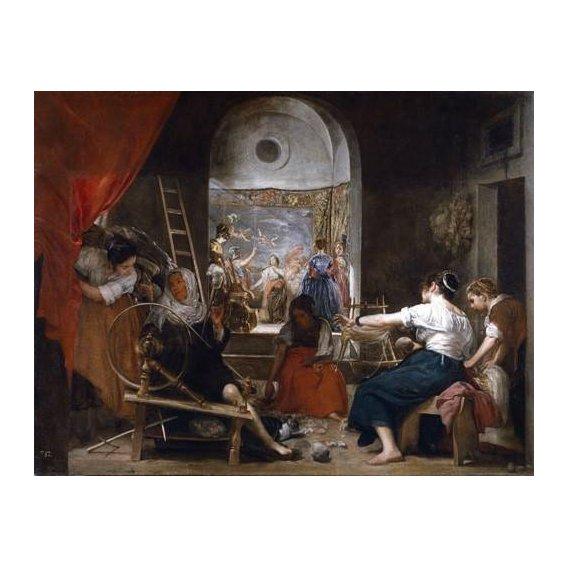 pinturas do retrato - Quadro -Las hilanderas-
