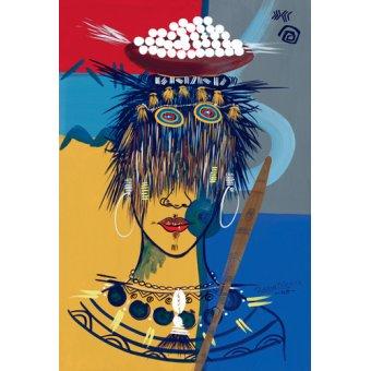 Tableaux orientales - Tableau -African Beauty 3, 2005- - Perrin, Oglafa Ebitari