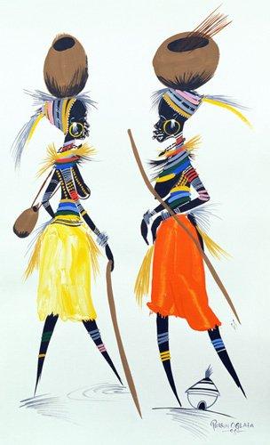 tableaux-orientales - Tableau -Black Models (II), 2008- - Perrin, Oglafa Ebitari