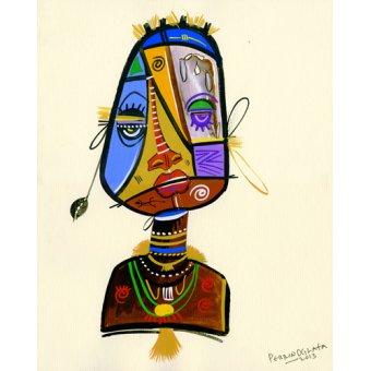 Tableaux orientales - Tableau -Beauty Beneath 2, 2013- - Perrin, Oglafa Ebitari