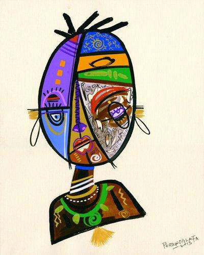 tableaux-orientales - Tableau -Just me, 2013- - Perrin, Oglafa Ebitari