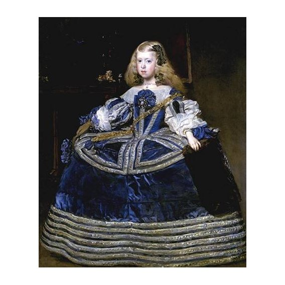 pinturas do retrato - Quadro -Retrato de la Infanta Margarita, a la edad de ocho anios-