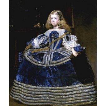 - Tableau -Retrato de la Infanta Margarita, a la edad de ocho anios- - Velazquez, Diego de Silva
