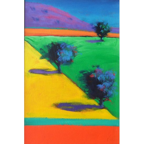 Tableau - Yellow Field (acrylic on board)-