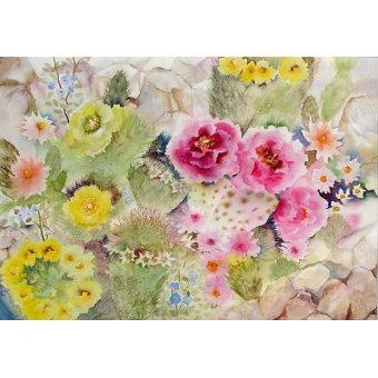 Tableaux de Fleurs - Tableau - Blooming Cacti- - Pushparaj, Neela