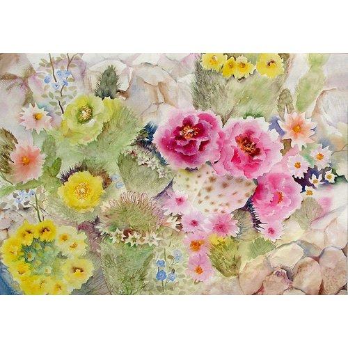 Tableau - Blooming Cacti-