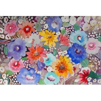 Tableaux de Fleurs - Tableau - floral quilt- - Pushparaj, Neela