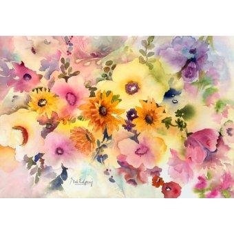 Tableaux de Fleurs - Tableau - golden blossoms- - Pushparaj, Neela