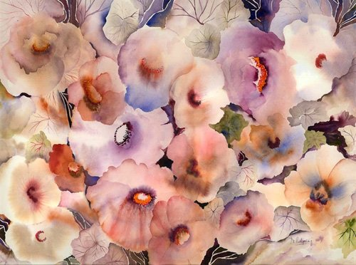 tableaux-pour-hall - Tableau - floral dreams- - Pushparaj, Neela