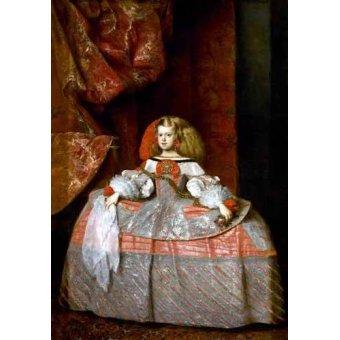 - Tableau -Retrato de la Infanta doña Margarita de Austria- - Velazquez, Diego de Silva