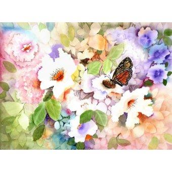 Tableaux de Fleurs - Tableau - monarch at my garden - - Pushparaj, Neela
