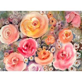 Tableaux de Fleurs - Tableau - roes and daisies- - Pushparaj, Neela