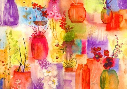 tableaux-pour-hall - Tableau - ala Ikebana- - Pushparaj, Neela