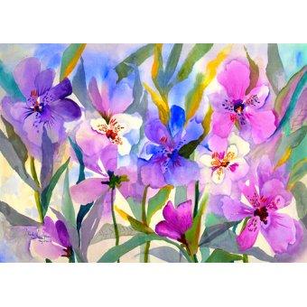 Tableaux de Fleurs - Tableau - Iris Fields- - Pushparaj, Neela