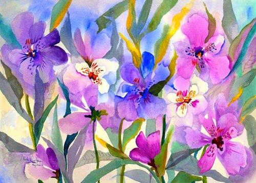 tableaux-pour-hall - Tableau - Iris Fields- - Pushparaj, Neela