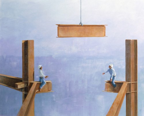 tableaux-modernes - Tableau -Placing the Last Link- - Seligman, Lincoln