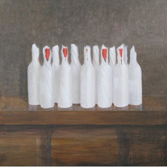 Tableaux nature morte - Tableau -Bottles in paper, 2005- - Seligman, Lincoln