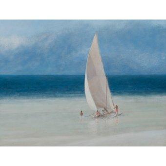 Tableaux de paysages marins - Tableau -Fishermen, Kilifi, 2012- - Seligman, Lincoln