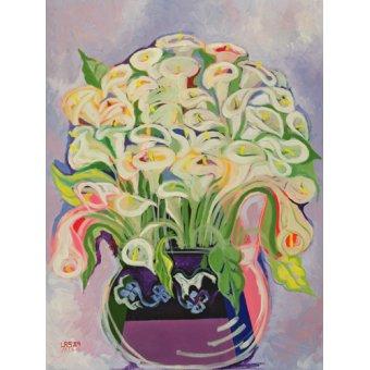 Tableaux de Fleurs - Tableau -Lilies, 1989- - Shawa, Laila