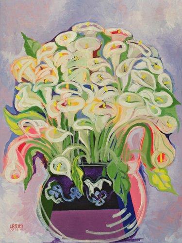 tableaux-pour-couloir - Tableau -Lilies, 1989- - Shawa, Laila