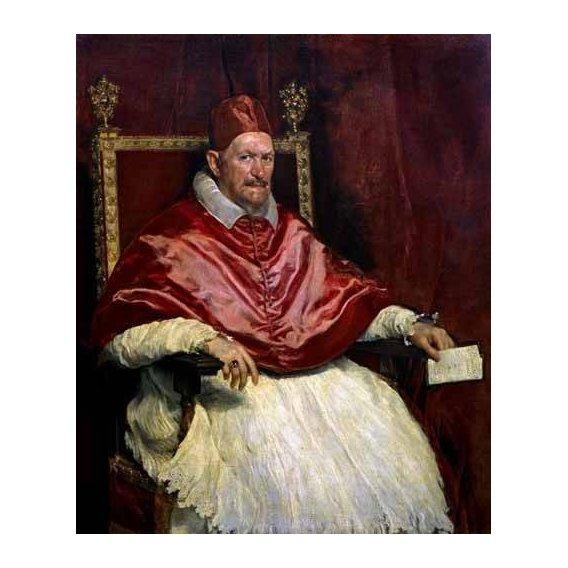 pinturas do retrato - Quadro -Retrato del Papa Inocencio-