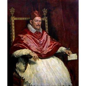 - Tableau -Retrato del Papa Inocencio- - Velazquez, Diego de Silva