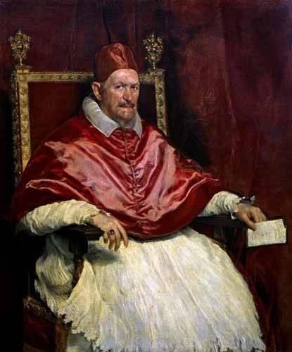 tableaux-de-personnages - Tableau -Retrato del Papa Inocencio- - Velazquez, Diego de Silva