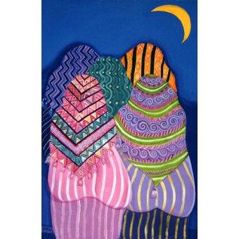 Tableaux orientales - Tableau - Bottoms in the Moonlight, 1990 - - Shawa, Laila