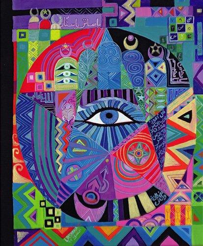 tableaux-orientales - Tableau - Eye of Destiny, 1992- - Shawa, Laila