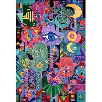 Tableaux orientales - Tableau - Magical Symbols, 1992- - Shawa, Laila