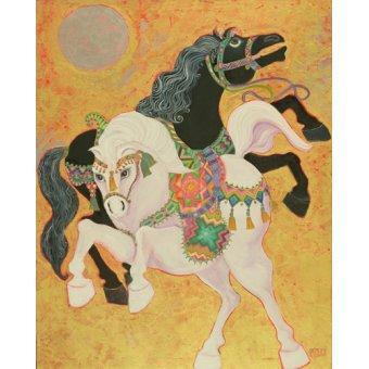 Tableaux orientales - Tableau - Antar and Abla, 1989- - Shawa, Laila