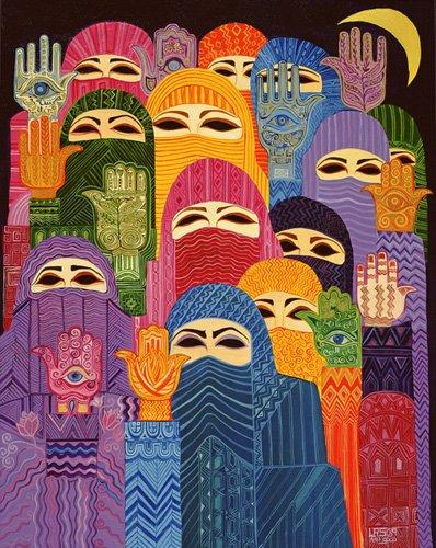tableaux-orientales - Tableau - The Hands of Fatima, 1989- - Shawa, Laila