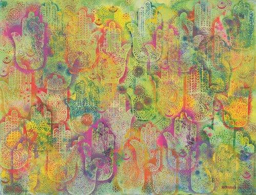tableaux-orientales - Tableau - Hands of Fatima, 1999- - Shawa, Laila