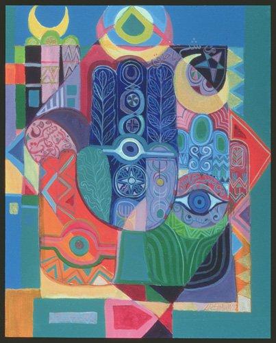 tableaux-orientales - Tableau - Hands as Amulets I, 1992- - Shawa, Laila