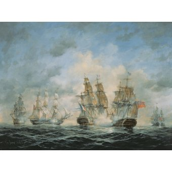 Tableaux de paysages marins - Tableau - 19th Century Naval Engagement in Home Waters - - Willis, RIchard