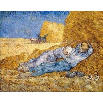 Tableau -La méridienne ou La sieste (d'après Millet)-