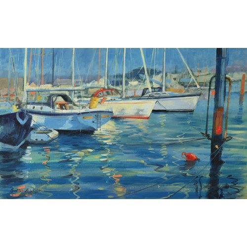Tableau - Isle of Wight - Yacht Reflections, 2010 (oil on board) -