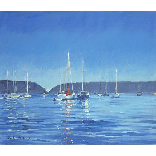 Tableau - Salcombe - Yachts - Twilight (oil on canvas) -