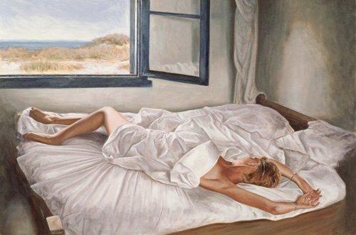 tableaux-de-nus - Tableau -The Whispering Sea (oil on canvas board)- - Worthington, John