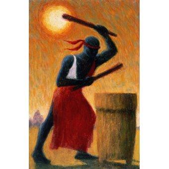 Tableaux orientales - Tableau - The Drummer, 1993 (oil on canvas) - - Willis, Tilly