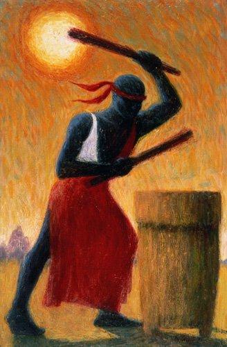 tableaux-orientales - Tableau - The Drummer, 1993 (oil on canvas) - - Willis, Tilly