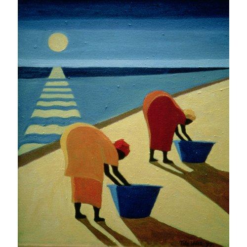 Tableau - Beach Bums, 1997 (oil on canvas) -