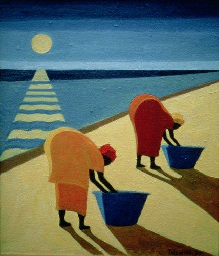 tableaux-orientales - Tableau - Beach Bums, 1997 (oil on canvas) - - Willis, Tilly