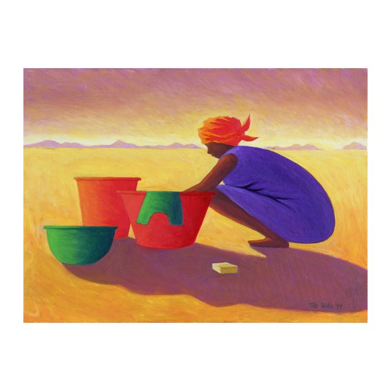 Tableau - Washer Woman, 1999 (oil on canvas) -