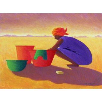 Tableaux orientales - Tableau - Washer Woman, 1999 (oil on canvas) - - Willis, Tilly