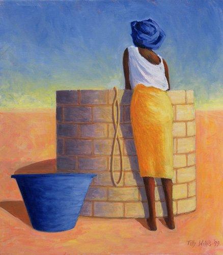 tableaux-orientales - Tableau - Well Woman, 1999 (oil on canvas)- - Willis, Tilly